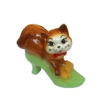 Ceramic piggy money box coin bank cash box piggy bank Cat in a shoe