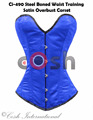 Overbust Royal Polyester Satin Steel Boned Waist Training Corsets Supplier And Manufacturer From Cosh International Pakistan