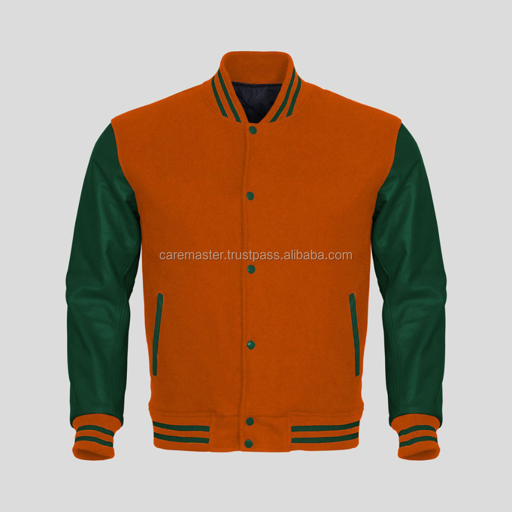 Custom Varsity Jacket with Leather Sleeves/hoodie