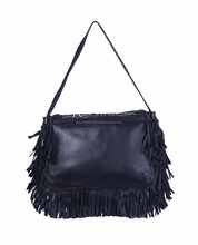 Best quality black color traditional leather bag for ladies