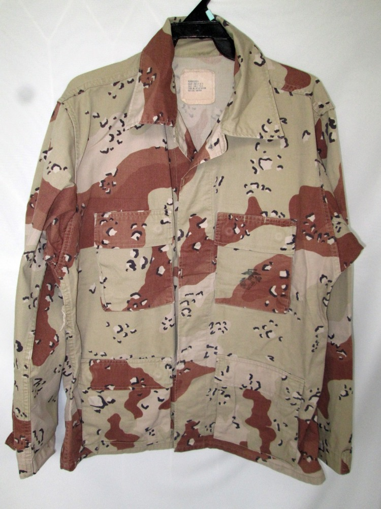 Used 6 Colors Desert BDU US Army Camouflage Camo Military Shirt / Coat