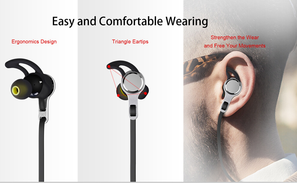 Sport bluetooth earphone wireless headset mobile headphones magnetic Neckband Bluetooth Sports Earphone with Mic