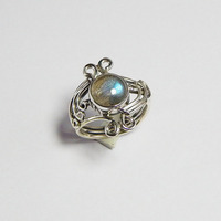 New Design ! 925 Solid Sterling Silver Labradorite Ring Jewelry For Women