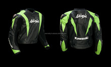 Green Ninja kawasaki Leather motorbike jacket