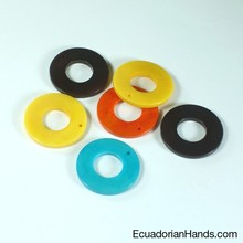 Round Belt Tab 30mm Tagua Bead (20 units) Wholesale