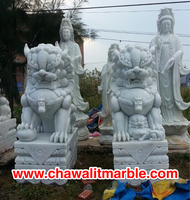 fudog white marble Sculpture Carving Size 80CM.