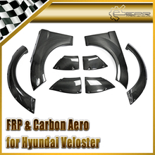 Carbon Fiber / FRP Fiber Glass Front & Rear Fender Flares Arches 8pcs Set For Hyundai Veloster