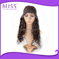 Low price lace front front wig with bun