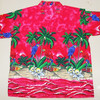 Macau Parrot Palm Tree Print Hawaiian