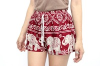 Cute Red Elephant Summer Cotton Shorts