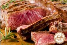 Beef Angus New York Steak Center All Natural Never/Ever No Added Hormones No Added Antibiotics USDA Choice Premium Cuts Platinum