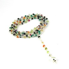 Surpassing Multi Gemstone 925 Sterling Silver Necklace, Handmade Silver Jewelry, Beads Silver Jewellery