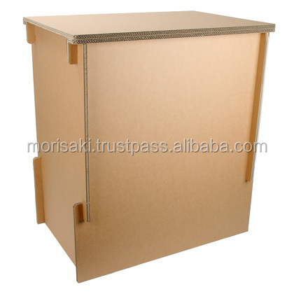Eco-friendly paper display stand hacomo Corrugated cardboard furniture with made with paper made in Japan