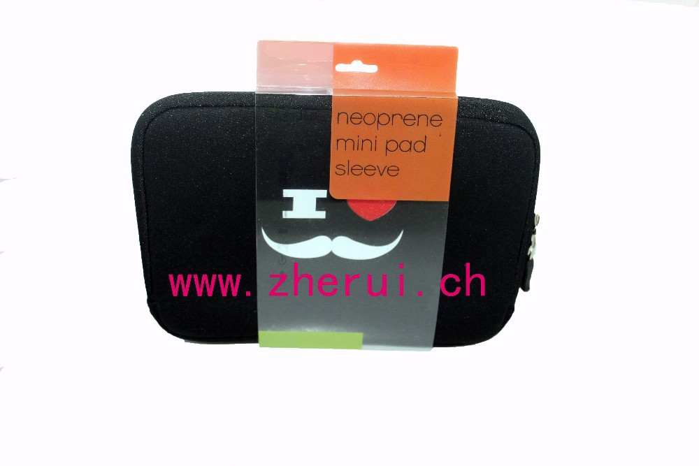 NEOPRENE MUSTACHE MINI TABLET SLEEVE FOR PAD