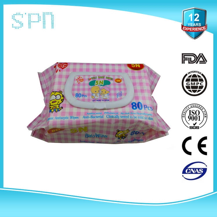 2015 ph balanced alcohol free baby care wet tissue