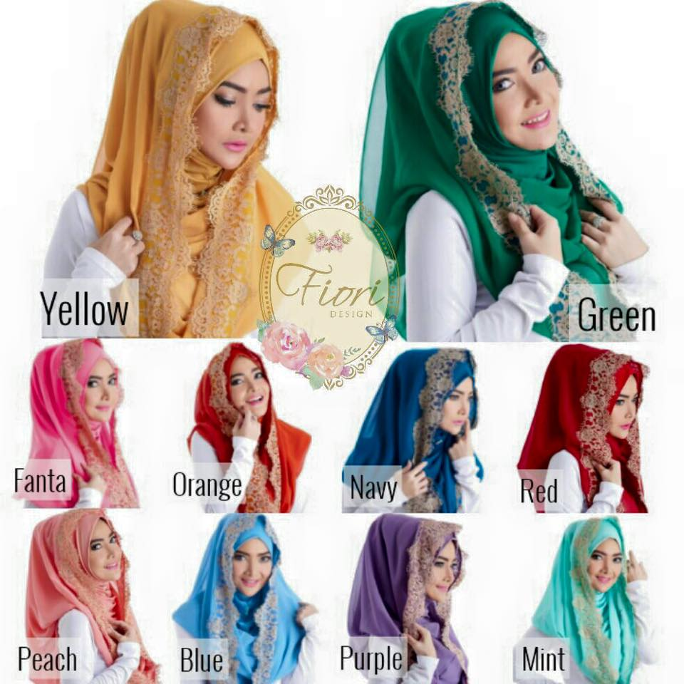 Beautiful Hoodie Lace Hijab - ready wear hijab
