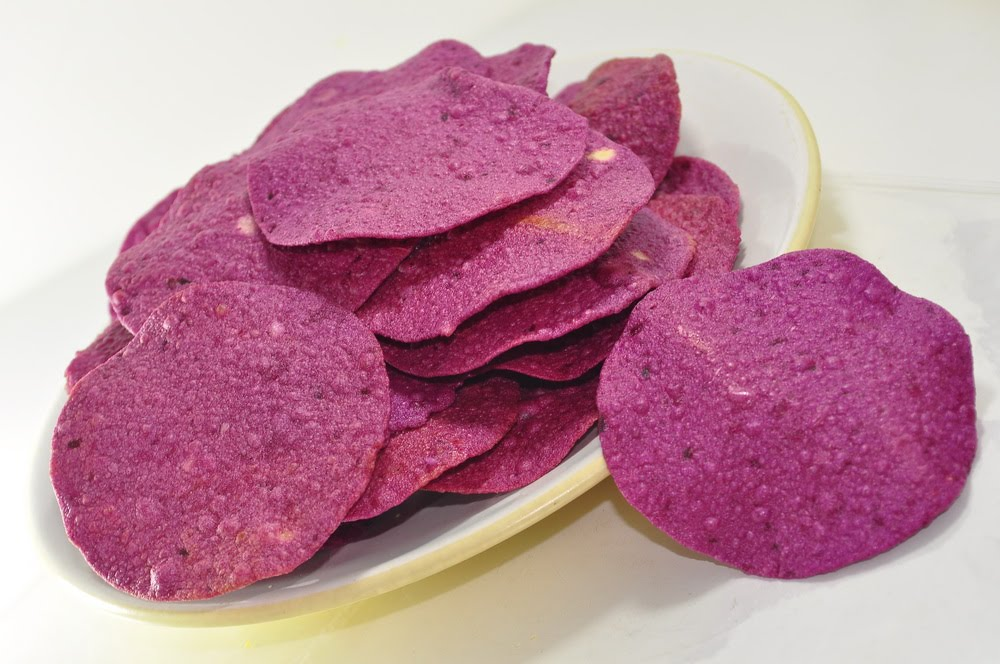 Purple Sweet Potato Chips (Keripik Ubi Jalar)