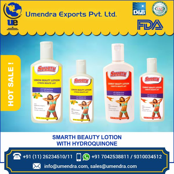 Best Selling Lotion at right price Smarth Lemon Flavour Skin Lightening Beauty Lotion With Hydroquinone 100 ml