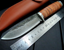 Custom Hand Made Damascus Steel Hunting and Camping Beautiful fine quality knives