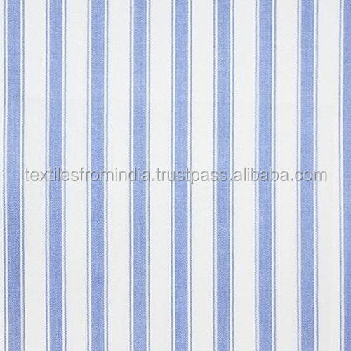 striped linen blue and white fabric