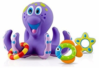 BUY Nuby Octopus Hoopla Bathtime Fun Toys, Purple