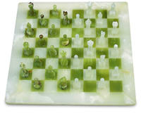 Onyx Marble Chess Set, Handmade Handcrafted White Onyx Marble Full Chess Board Game Set Collectible with custom packing