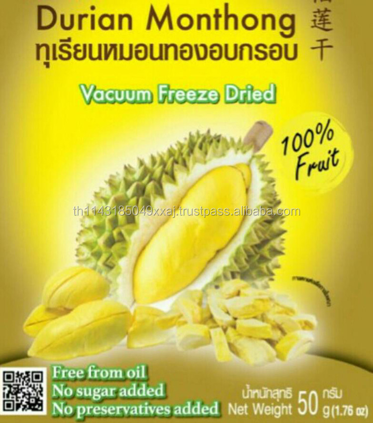 Best selling premium vacuum snack Thai Tastes Durian Freeze Dried great natural product mix nutritional benefit good taste delic