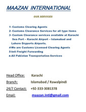 Perfect Custom Clearance Agent Reliable Clearing and Forwarding services Pakistan