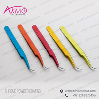 Colorful Eyelash Tweezers /Straight/Pro Straight/A-Type/Curved/Angled 15/ X-Type/L Type/ Chisel Tip Tweezers