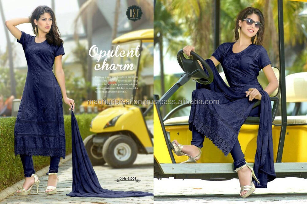 Riwaz - Lawn Cameric Cotton With Karachi Work With Heavy Duppata