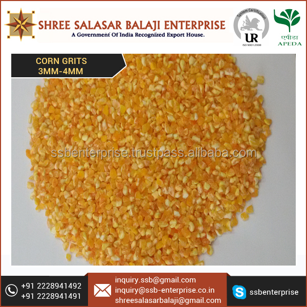 Brand Quality Stock of Best Brand Corn Grits (3.00 mm to 4.00mm)