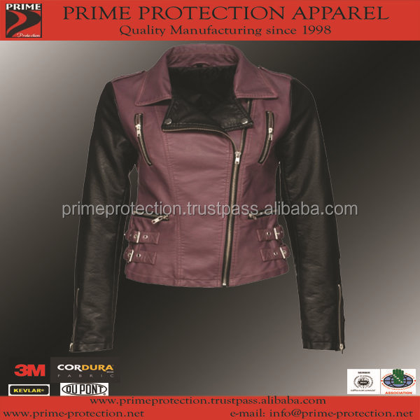 wholesale 2015 fashion motorcycle brand purple and black leather jackets