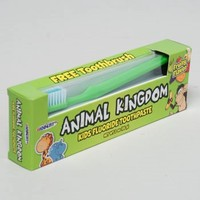 TOOTHPASTE W/BRUSH 3OZ FRUITY ANIMAL KINGDOM #10107