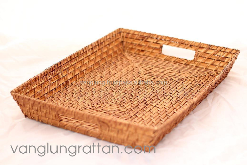 Hot design 2016 small rattan tray