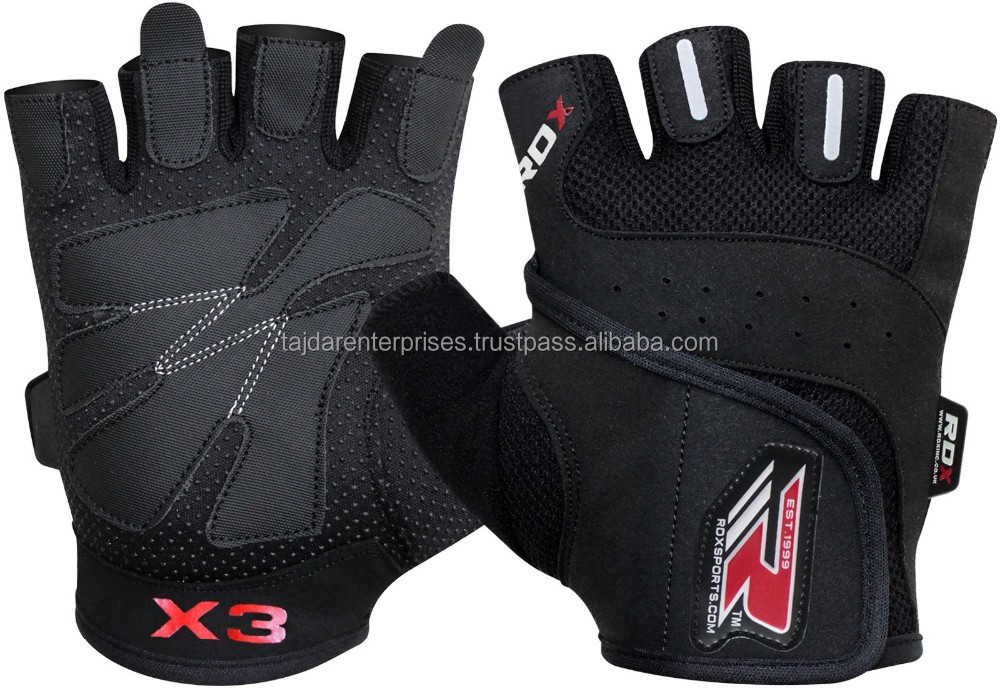 Auth RDX Gel body building Weight lifting gloves