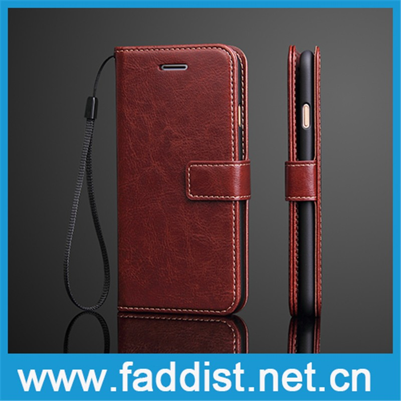 Top genuine leather cell phone case for iphone 7 plus case
