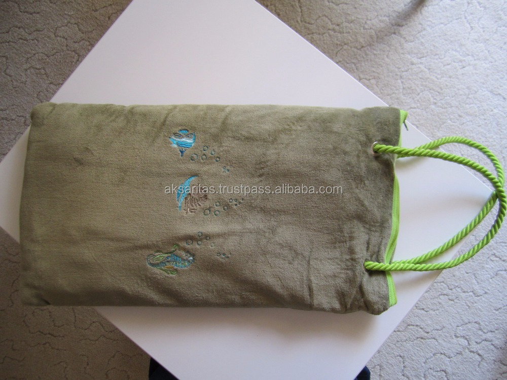 beach towel back pack, towel with zipper and pocket
