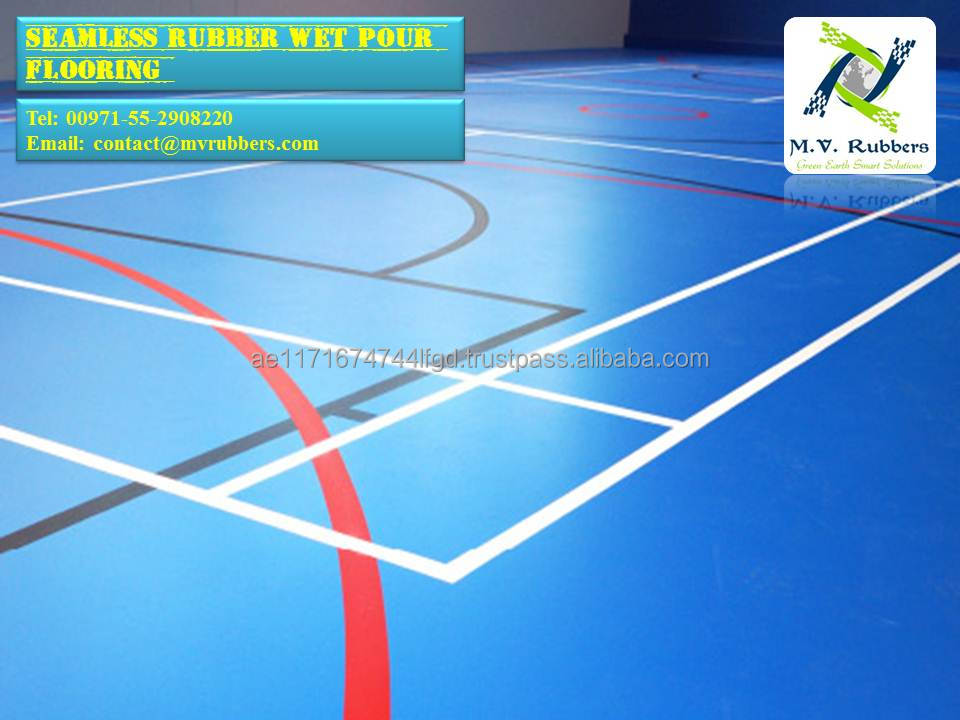 Polyurethane Sports Rubber Flooring
