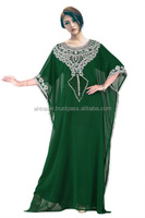 DARK GREEN OMAN STYLE FASHIONABLE KAFTAN