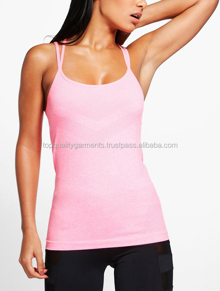 Fashion Women's Tank Top Casual Two Color Wholesale Gym Training Gymnastic Soccer Fitness 100% Cotton OEM Customize Print