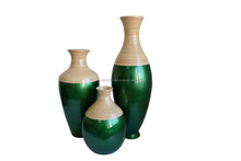 Spun bamboo vase made in Vietnam
