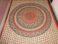 traditional printed round mandala tapestry