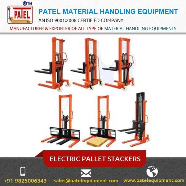 Best Material Handlig Equipment Electric Forklift Stacker at Affordable Price