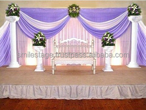RK flexible Pipe and drape/telescopic pole/wedding backdrop