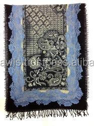 Kashmiri Handmade Embroidery shawls, Hanmade Embroidery Stoles& scarf