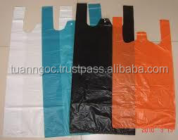 Best price lively color plastic T-shirt bag for shopping