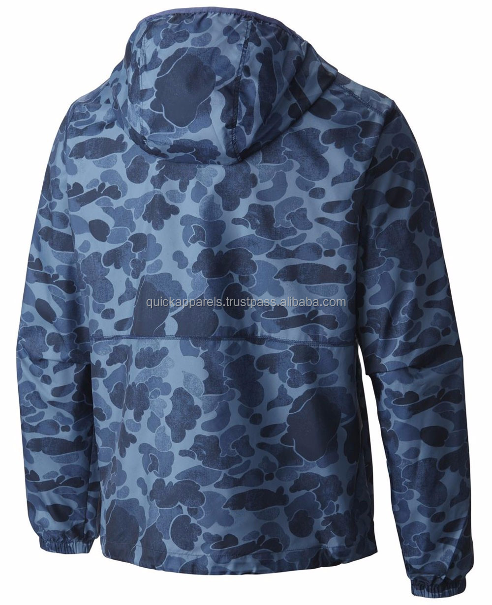 Camo Windbreaker Mens Waterproof Nylon Military Rain Jacket,Lightweight woven camo printing windbreaker jacket