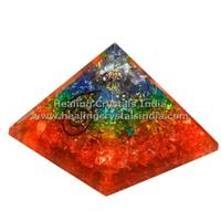60-70mm Gemstone Orgone Pyramid Reiki Healing natural multi Stone Pyramid
