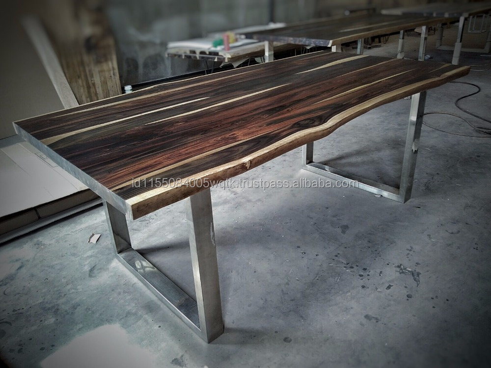 Rosewood Dining Table with Steel