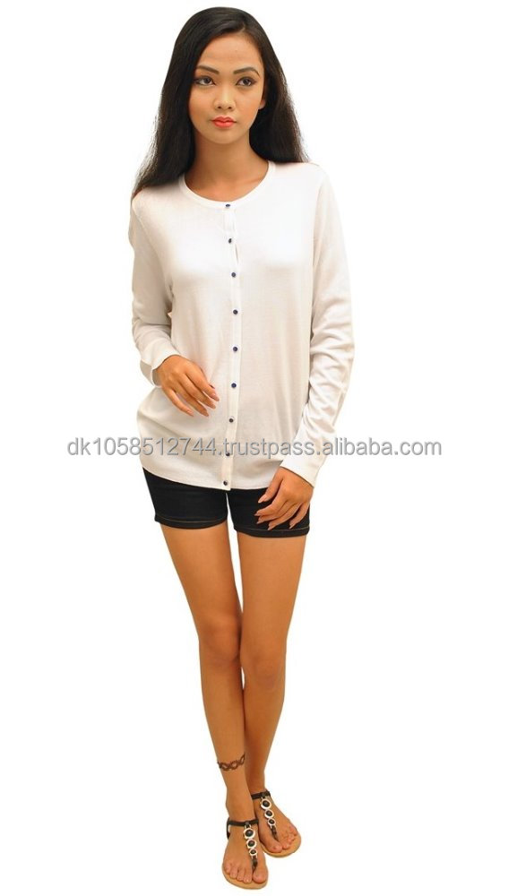 Ladies Long Sleeve button trough comfortable Fashion Cardigan summer top